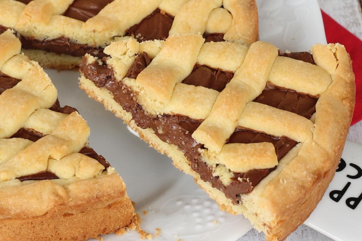 Crostata alla Nutella piu' buona del mondo | ricetta frolla dolce alla Nutella