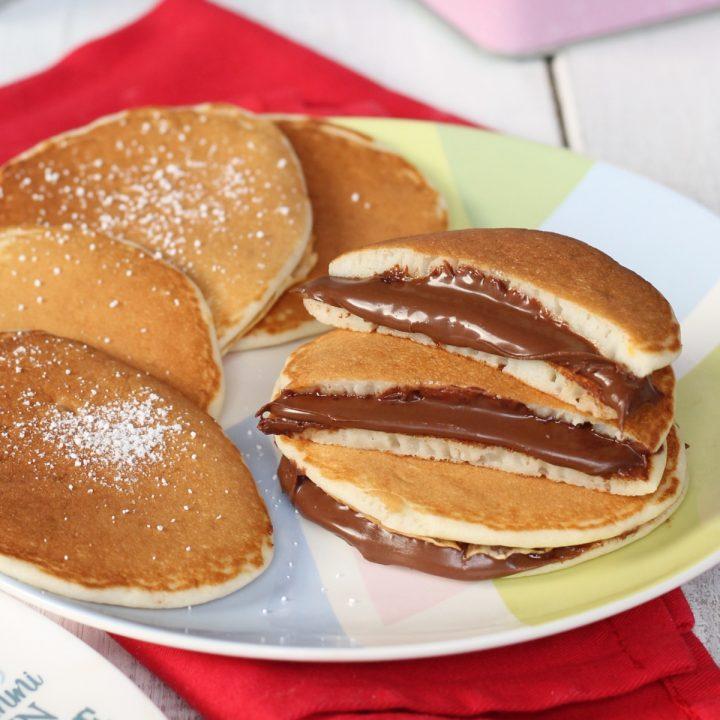 Pancakes yogurt e nutella morbidissimi | ricetta impasto dolce con yogurt