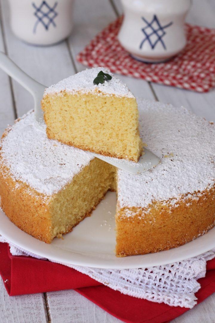 Torta all' acqua senza burro   ricetta torta soffice senza latte e latticini