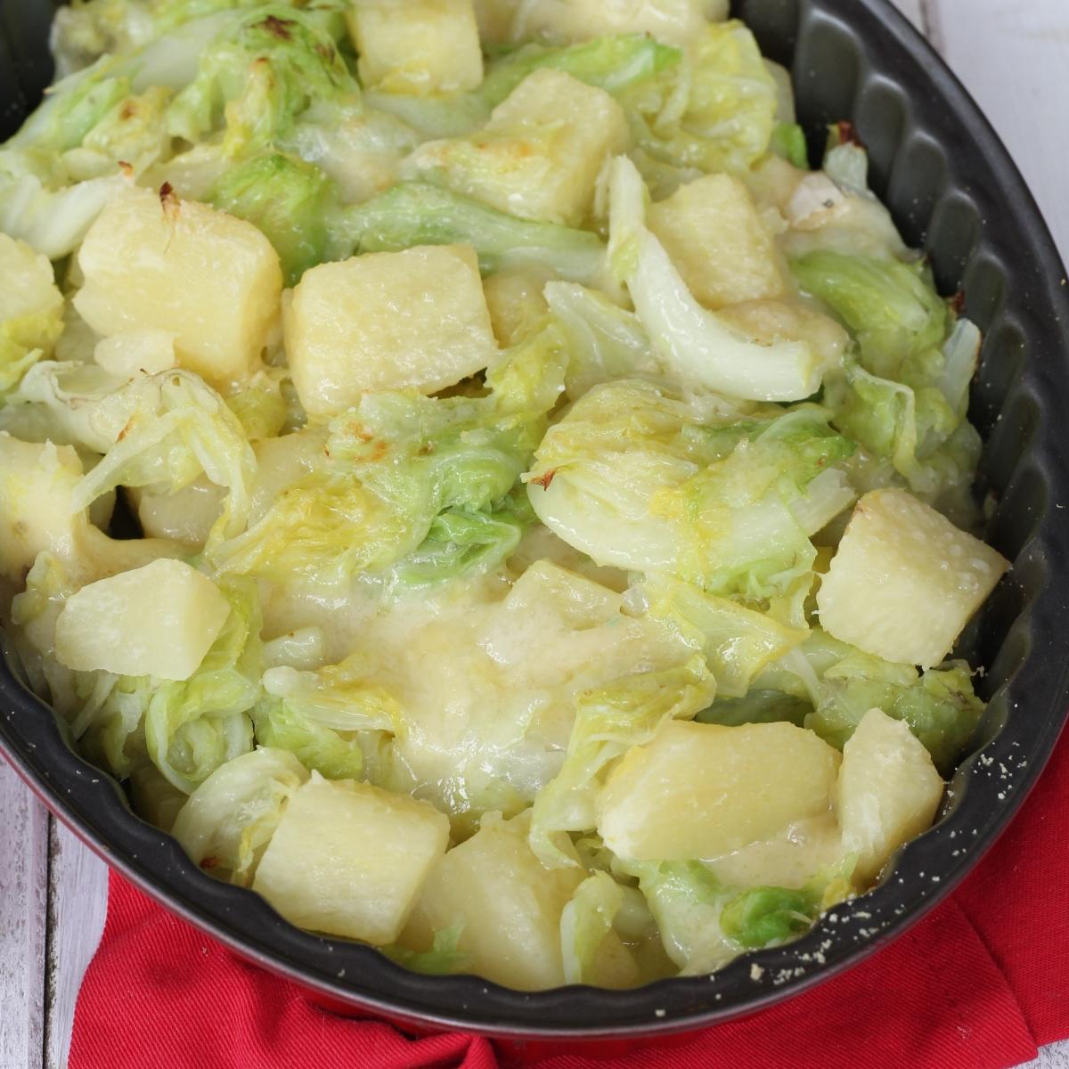 Ricetta Verza E Patate.Ricetta Verza E Patate Alla Valtellinese Verza Al Forno Patate E Formaggio
