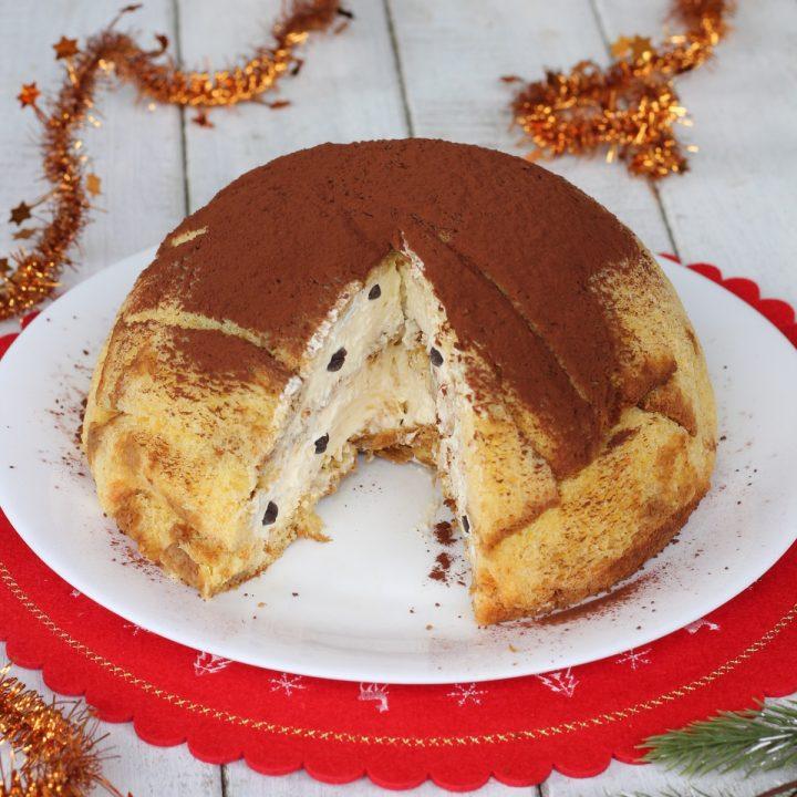 Zuccotto Pandoro mascarpone caffè   ricetta dolce di Natale con Pandoro