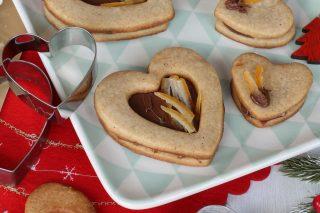 Biscotti del filo d'oro | ricetta biscotti cannella e zenzero farciti con Nutella