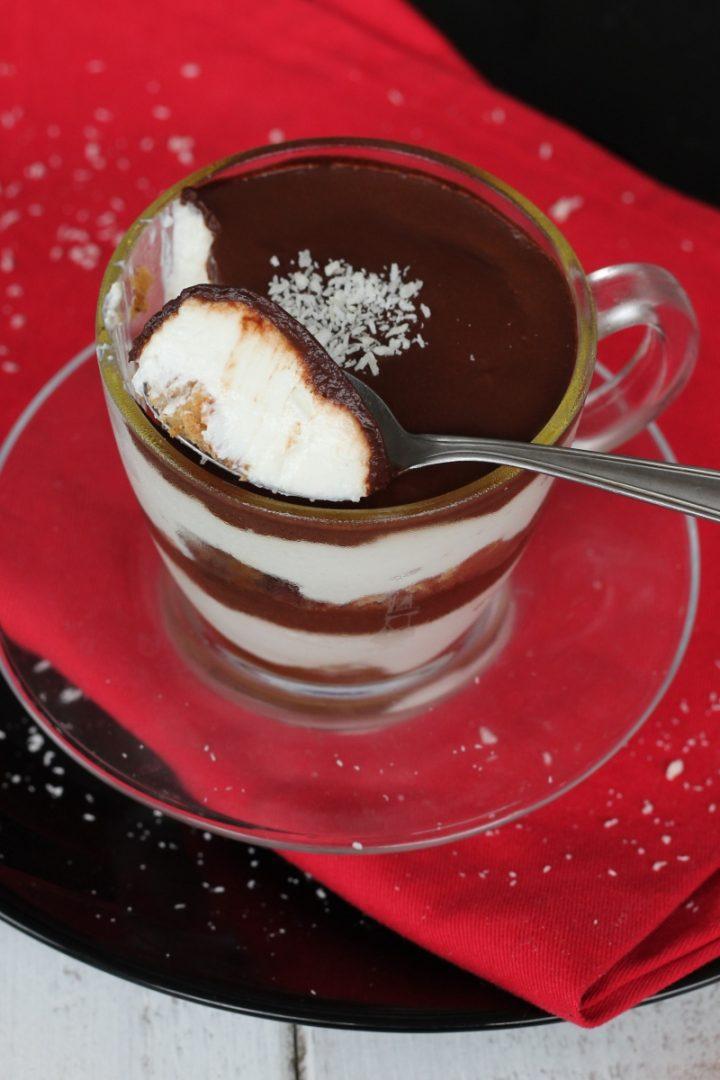 Dessert light cocco cioccolato caffè | dolce ipocalorico con yogurt greco
