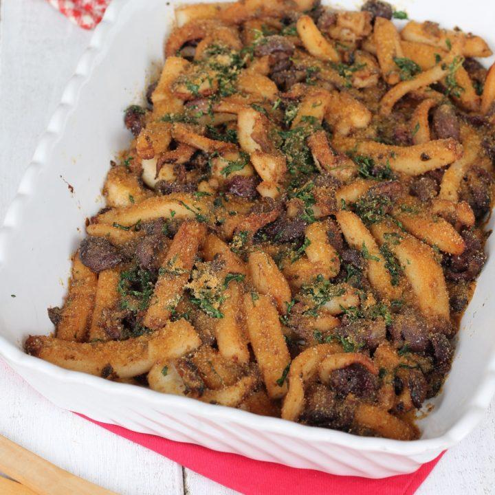 Seppie gratinate al forno | ricetta secondo di pesce con seppie a listarelle