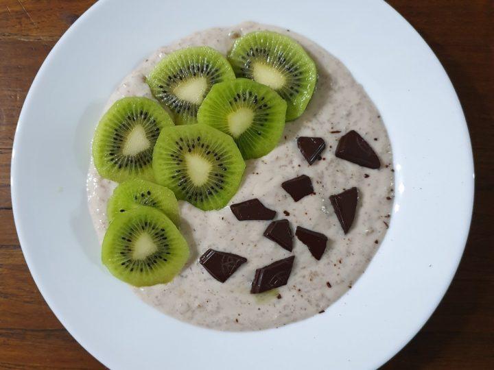 Porridge con albumi   Ricetta fit light per colazione sana senza grassi
