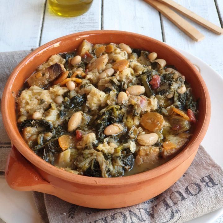 Ribollita toscana | ricetta originale zuppa di pane raffermo verdure e fagioli