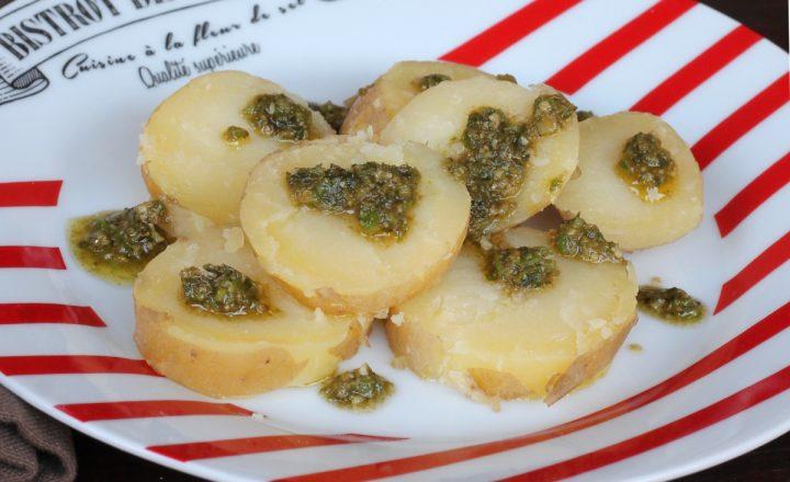 Patate con bagnetto verde piemontese | ricetta originale Bagnet Verd
