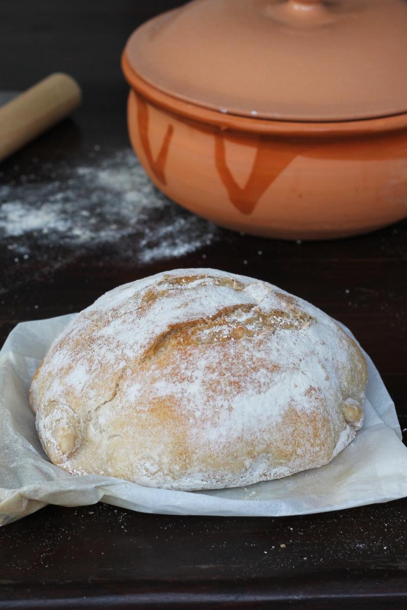 Pane cotto in pentola | ricetta pane senza impasto | pane facilissimo