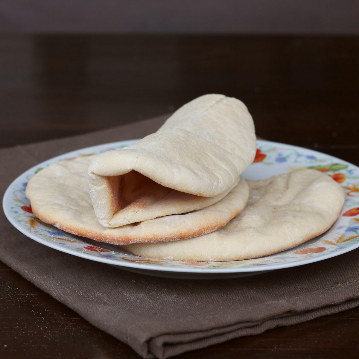PANE PITA ricetta originale pita greca tradizionale | al forno o in padella
