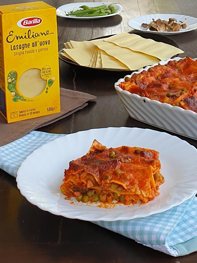 LASAGNE ALLA BOSCAIOLA ricetta lasagna boscaiola   pasta al forno
