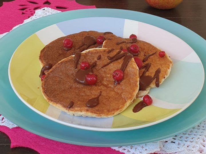 Pancake proteici integrali   ricetta pancakes con farina integrale fit light