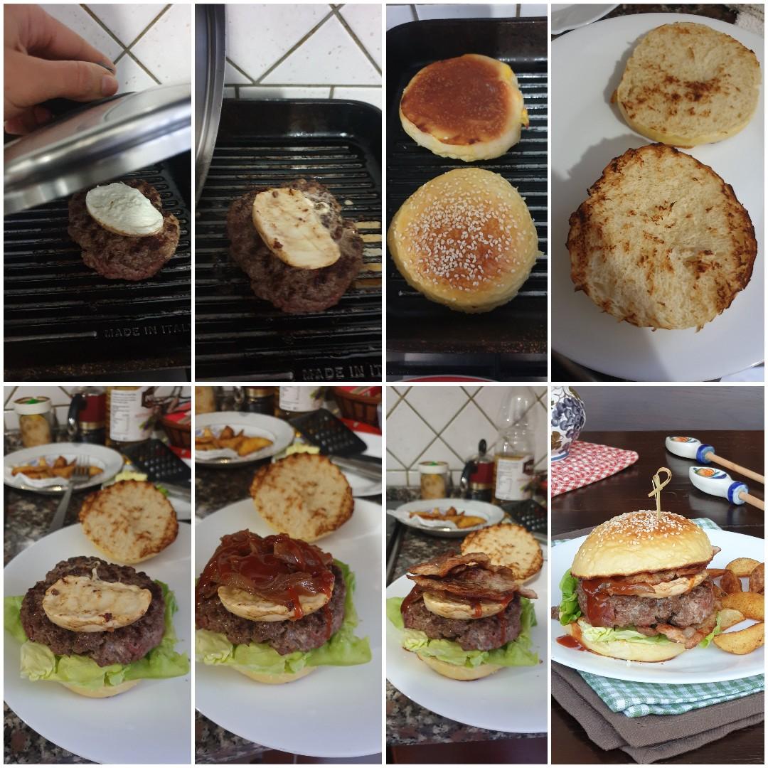 HAMBURGER panino pub farcito con pane fatto in casa