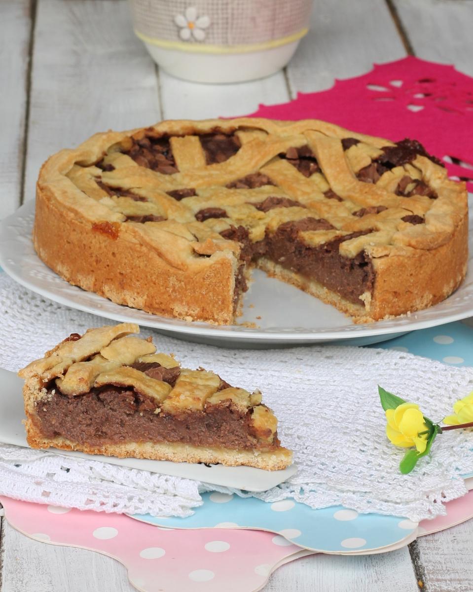 ricetta torta ricotta |crostata arancia cioccolato al latte