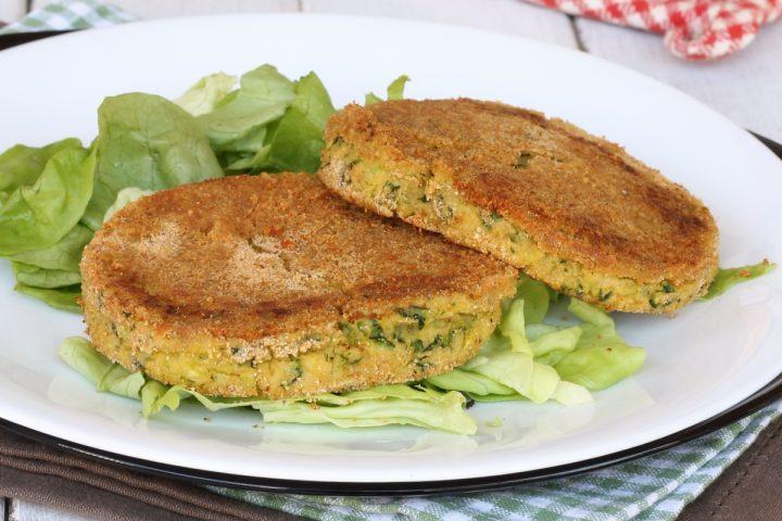 ricetta maxi burger zucchine e patate