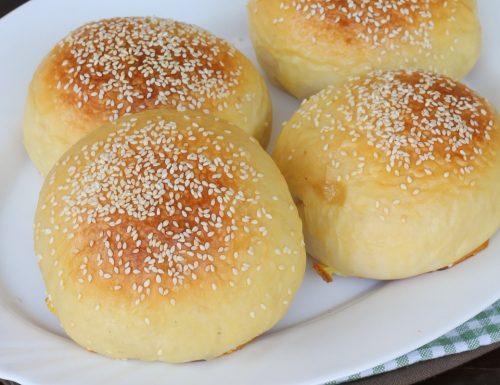 PANE HAMBURGER burger buns con poco lievito