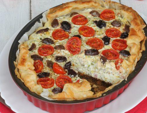 TORTA SALATA ZUCCHINE E RICOTTA
