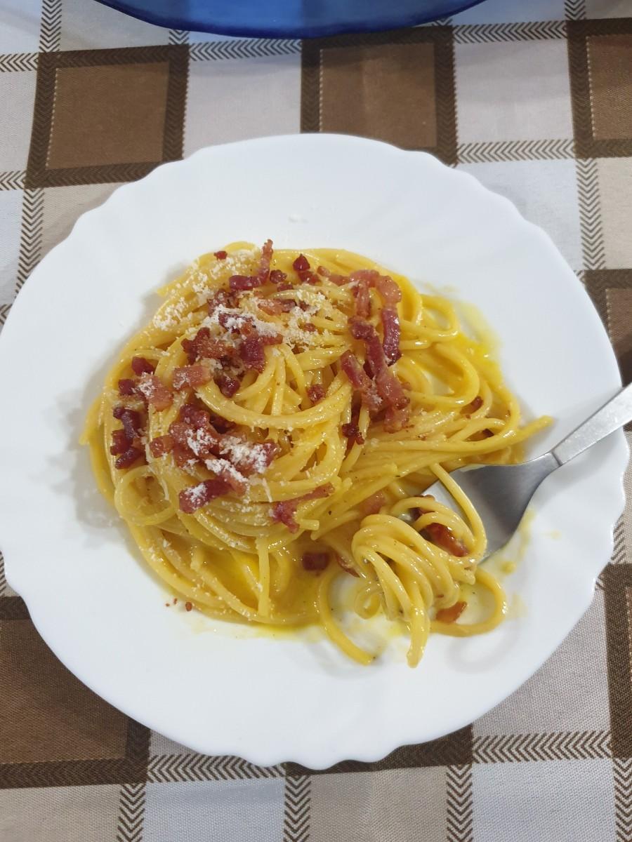 ricetta laziale tradizionale CARBONARA ricetta spaghetti alla carbonara