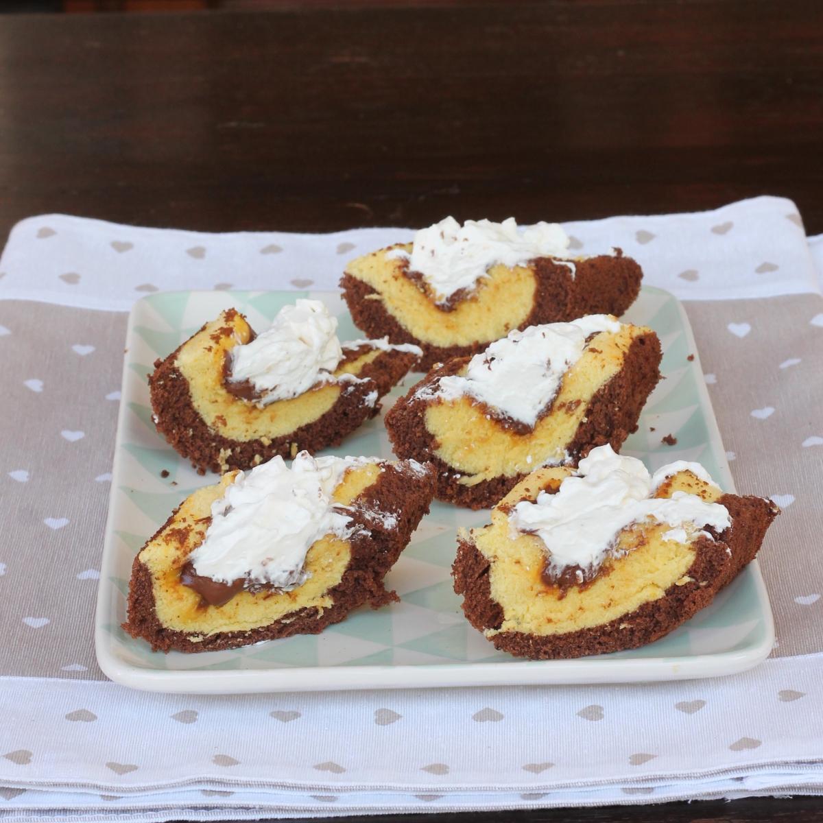 BARCHETTE MORBIDE PANNA E NUTELLA dolce FACILE con nutella
