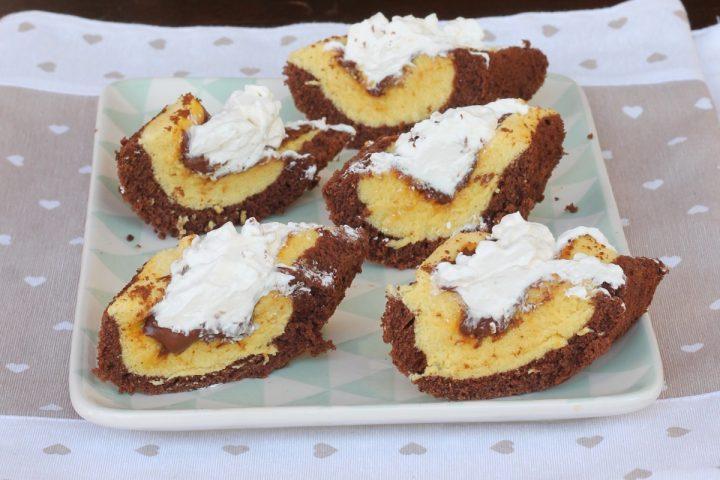 BARCHETTE MORBIDE PANNA E NUTELLA dolce veloce con nutella