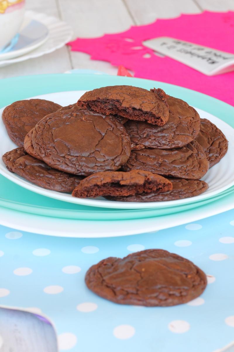 BROWNIE cookies ricetta biscotti al cioccolato morbidi e cremosi