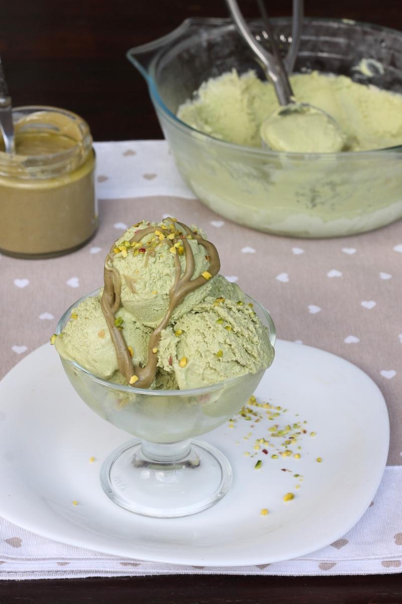GELATO AL PISTACCHIO veloce  ricetta gelato al pistacchio furbo