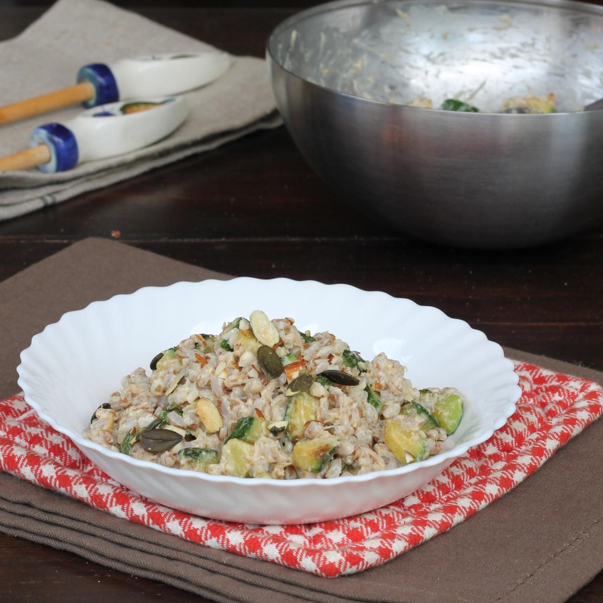 INSALATA FARRO E ZUCCHINE | farro freddo | insalata di farro fredda