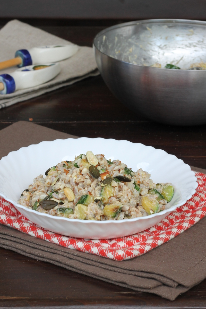 INSALATA DI FARRO con verdure | farro freddo | insalata di farro fredda