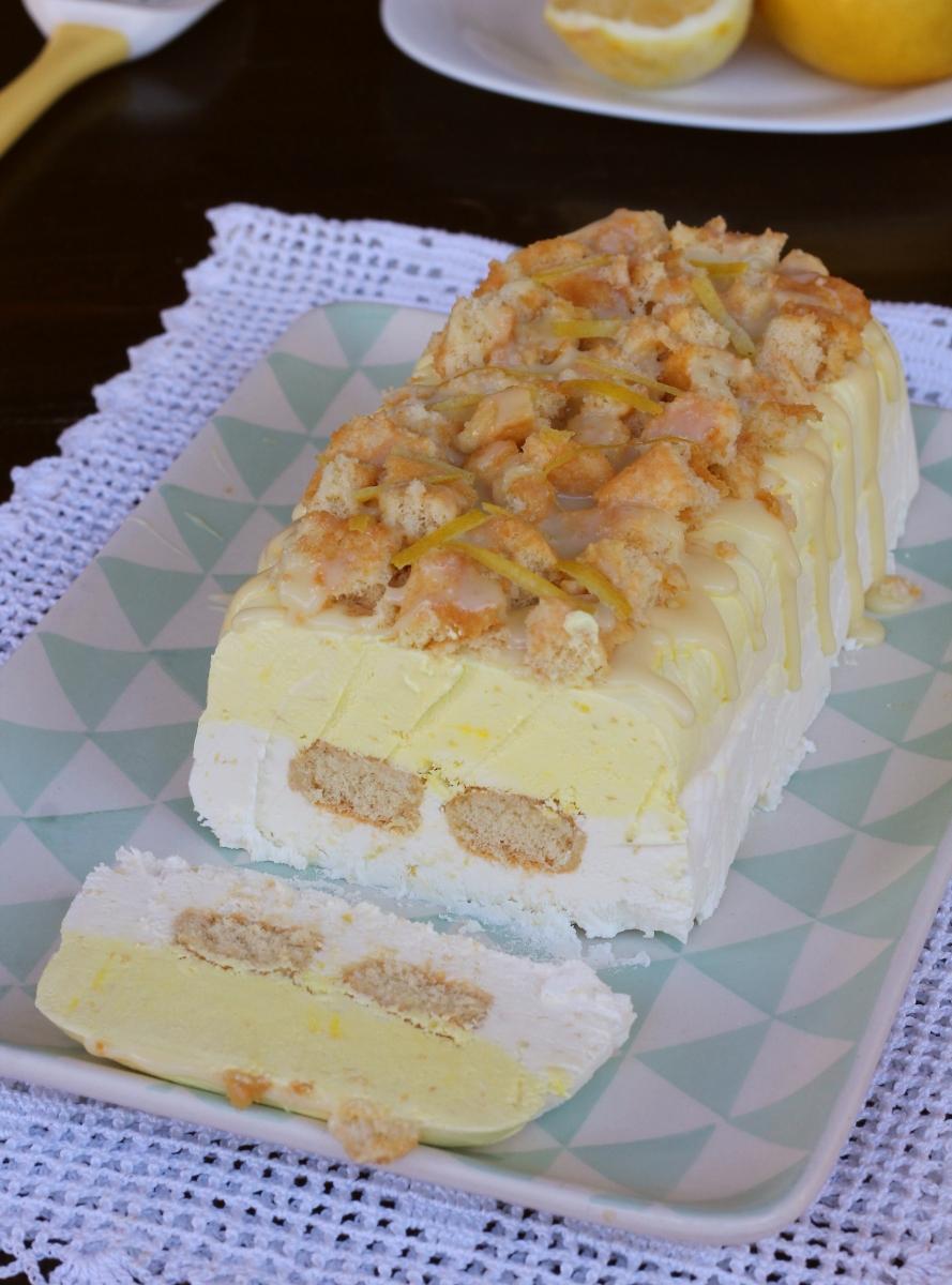 dolce estivo con gelato AL LIMONE ricetta dolce freddo estivo veloce senza cottura