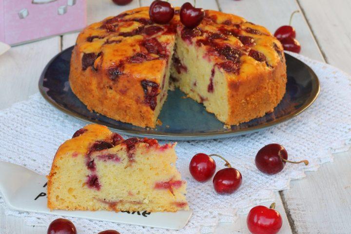 TORTA DI CILIEGIE E RICOTTA ricetta torta di ciliegie morbidissima