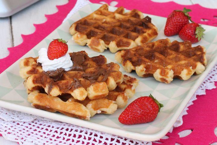 WAFFEL ricetta originale belga | les gaufres de Liège | waffles morbidi