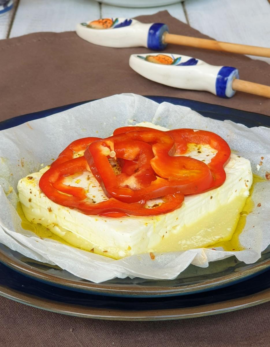 FETA AL FORNO con verdure ricetta feta greca al forno | formaggio