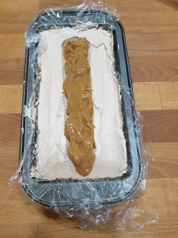 GELATO mou e cioccolato al latte torta gelato snickers | gelato FURBO caramello mou