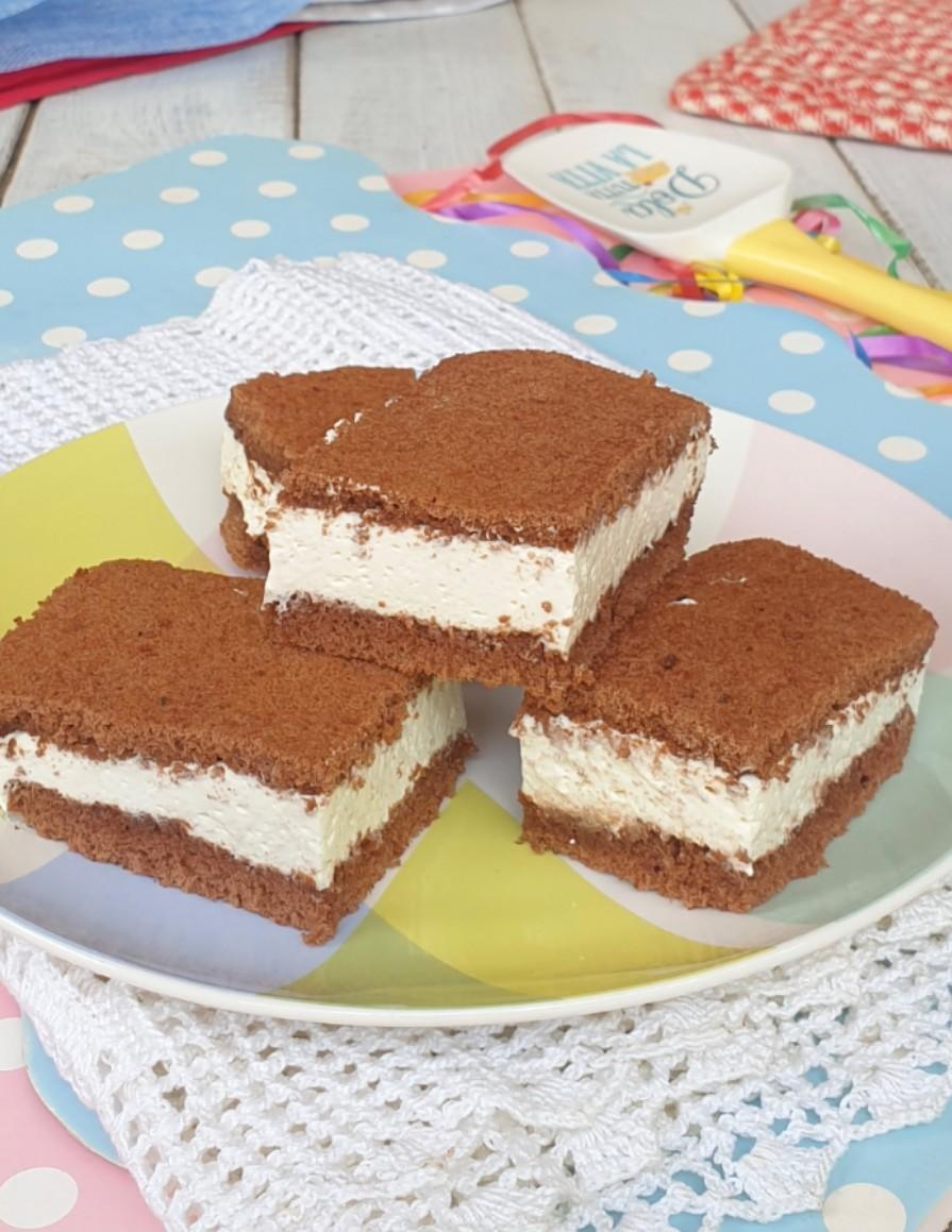 kinder FETTa AL LATTE torta fetta al latte simil Kinder fette a latte | dolce freddo