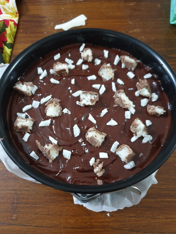 TORTA crema CIOCCOLATO e yogurt  torta senza cottura al cocco