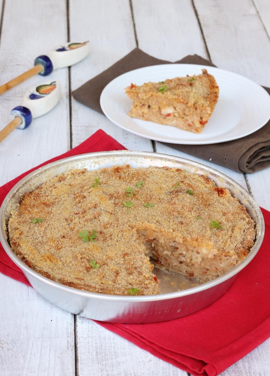 TORTA salata DI PANE raffermo | ricetta torta di pane salata con tonno
