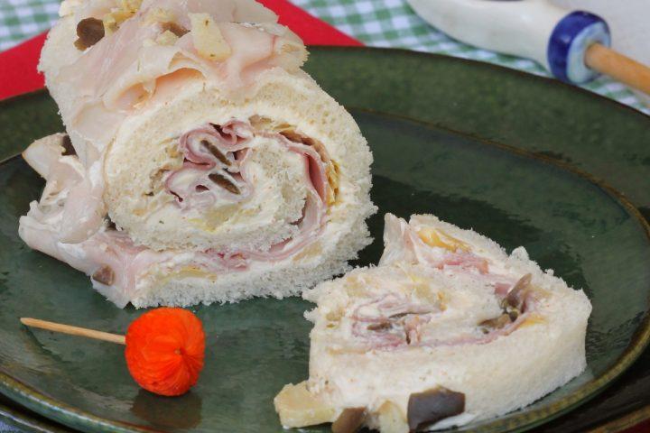 ROTOLO TRAMEZZINO   rotolo freddo salato   rotolo di pancarrè freddo