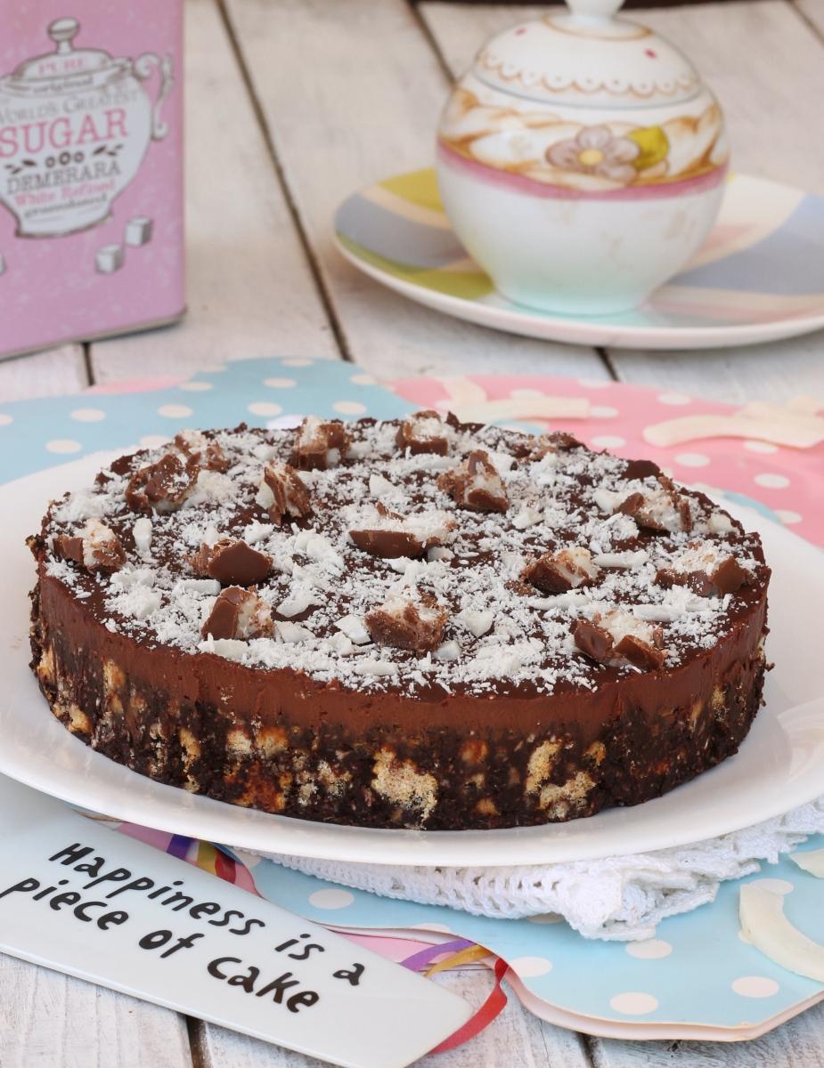 TORTA di biscotti COCCO e CIOCCOLATO torta senza cottura al cocco