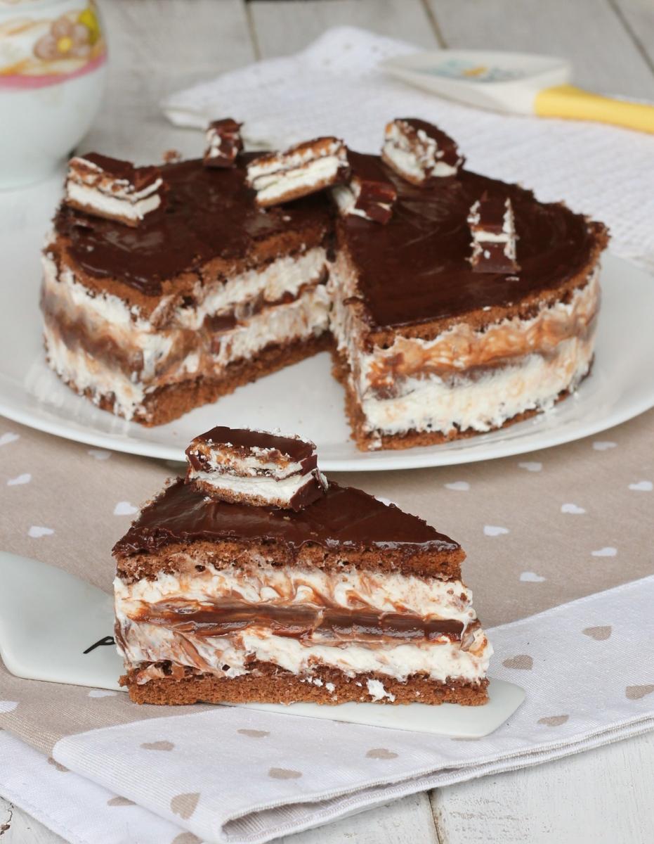 TORTA al cioccolato   ricetta torta pinguino   torta kinder Pinguì fredda