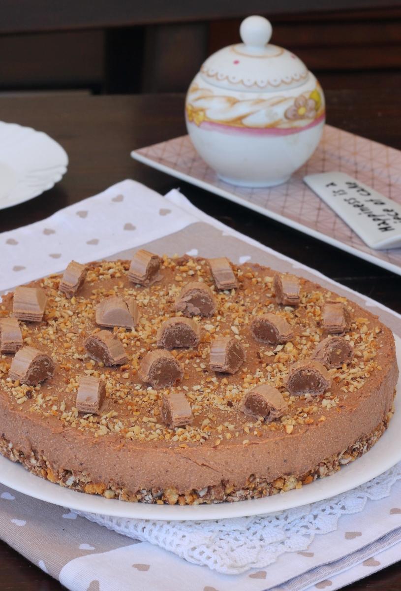 TORTA alla nutella estiva  torta fredda estiva | torta alle nocciole senza cottura