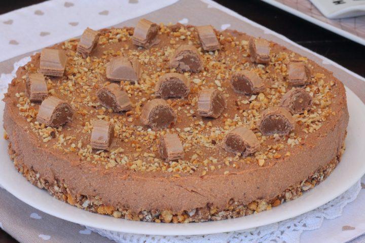 TORTA TRONKY torta fredda estiva | torta alle nocciole senza cottura