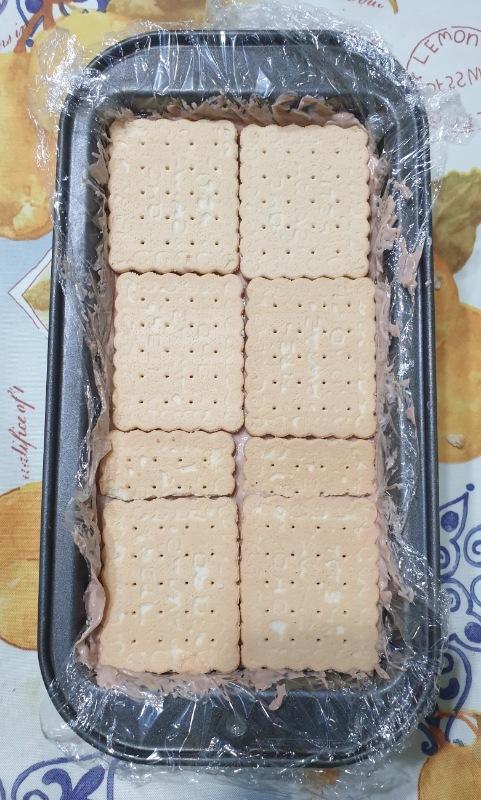 dolce estivo biscotti e NUTELLA ricetta veloce torta gelato con Nutella