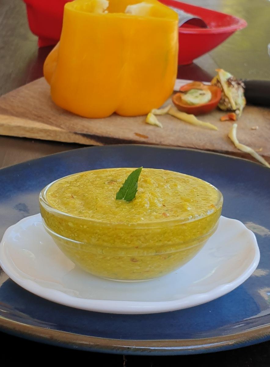 salsa di PEPERONI CRUDI pesto peperoni Bmby |condimento per pasta