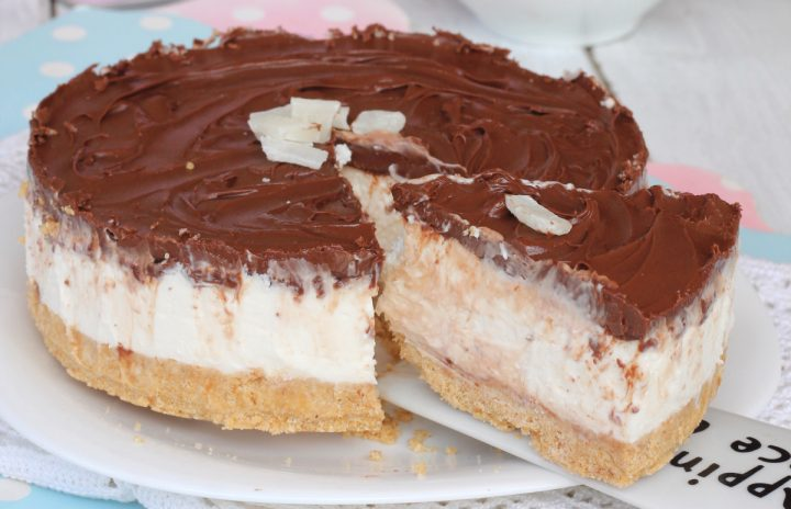 TORTA FREDDA COCCO E NUTELLA torta estiva veloce senza cottura