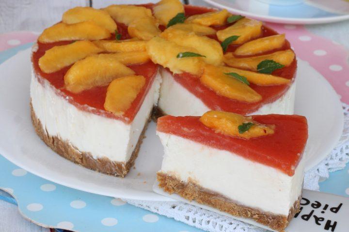 TORTA FREDDA ALLO YOGURT torta fredda alle pesche con yogurt