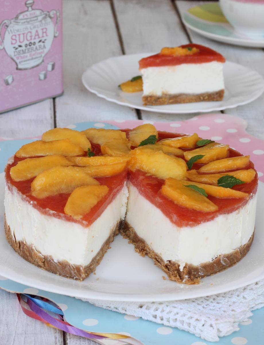TORTA ALLO YOGURT SENZA COTTURA torta fredda alle pesche con yogurt