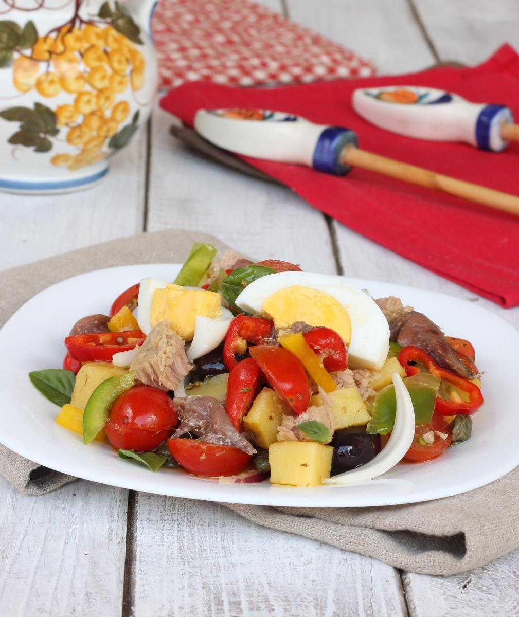 CONDIGLIONE ricetta TRADIZIONALE LIGURE   insalata tipica genovese   cundigiun