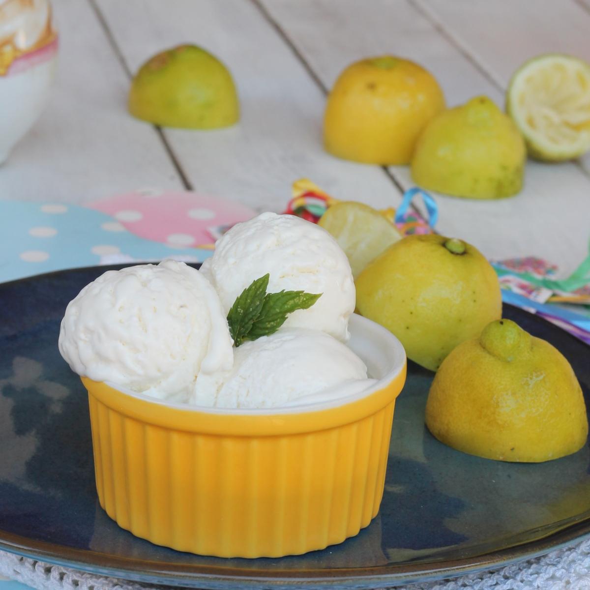 GELATO AL LIMONE con albume  senza gelatiera   gelato al limone fatto in casa facile