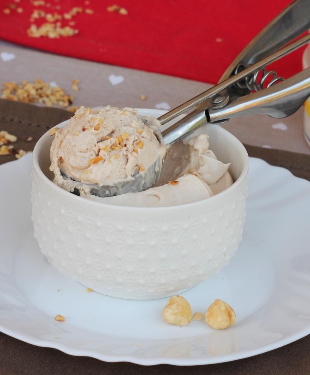 GELATO NOCCIOLA furbo | gelato alla nocciola senza gelatiera