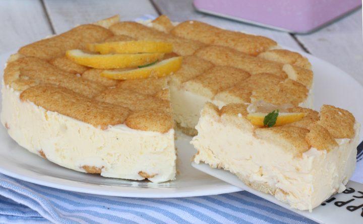 TORTA SEMIFREDDO AL LIMONE ricetta torta gelato al limone veloce