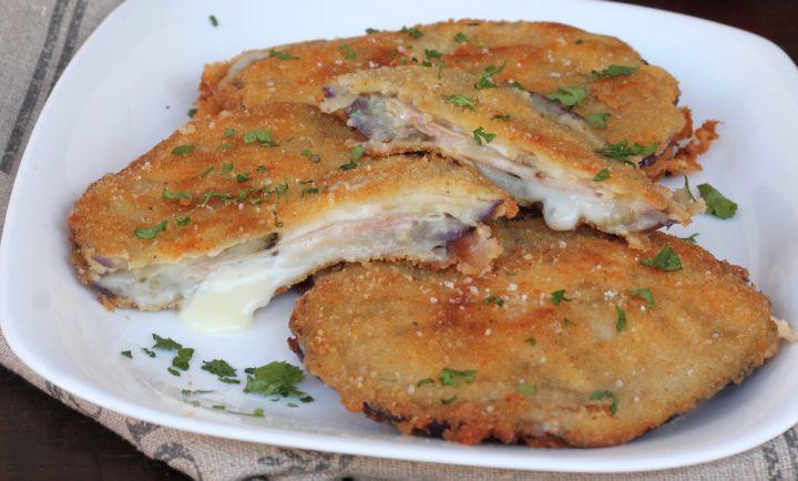 CORDON BLEU DI MELANZANE ricetta cordon bleu fritti o al forno